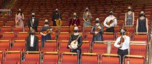 Die jungen Künstler in den Rängen der Philharmonie